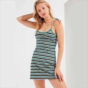 UO Maddie Tie-Strap Striped Dress